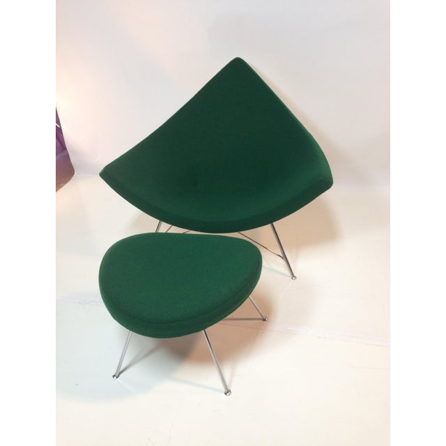 Modern Coconut Chair With Ottoman For Sale - Image 3 of 11