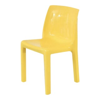 Vintage Yellow Atomic Mod Chair For Sale