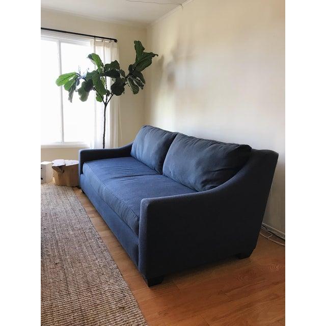 Navy Blue Custom Sofa - Image 3 of 8