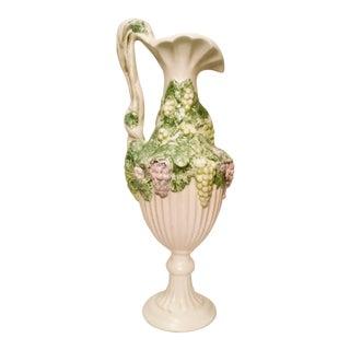 1970s Grape Motif Ceramic Pitcher For Sale