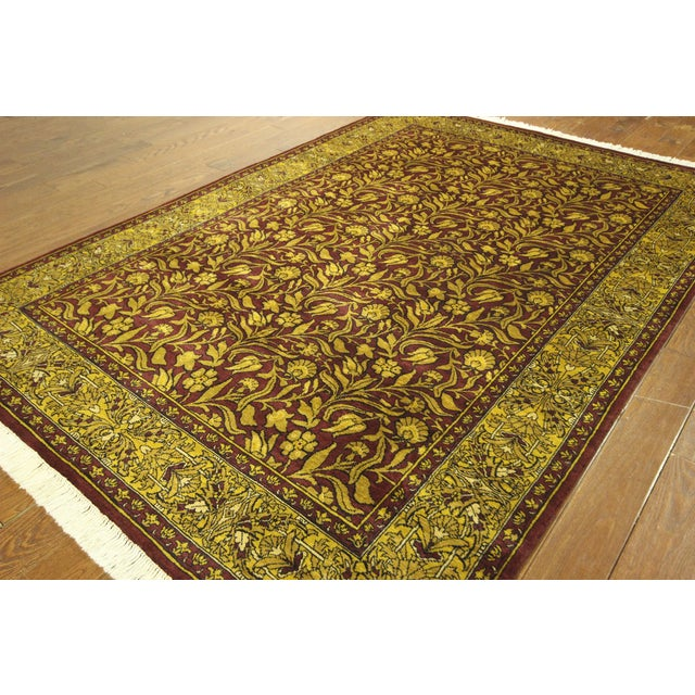"""Suzani Collection Oushak Floral Rug - 6'2"""" x 8'10"""" - Image 3 of 10"""