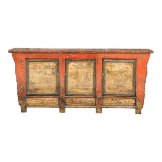 Antique 19th Century Mongolian Long Credenza For Sale