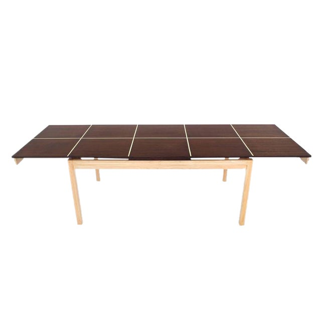 Two tone Dining Table with Two Leaves For Sale