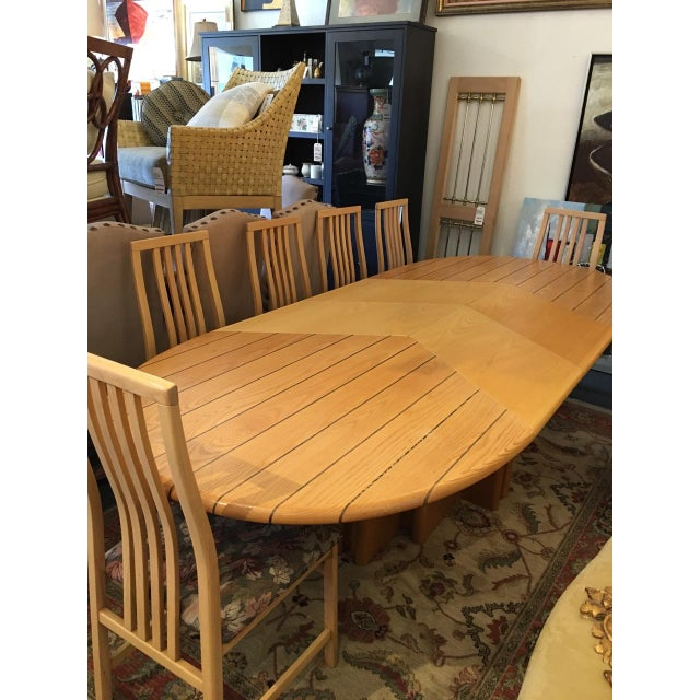 Scandinavian Designs Oval Dining Table & 4 Leaves - Image 9 of 10