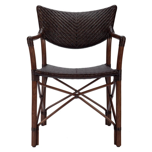 Selamat Designs Henny Cinnamon Rattan Arm Chair - Image 1 of 3