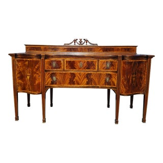Inlaid Georgian Sideboard For Sale