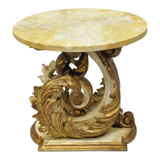 Early 20th Century Antique Italian Neoclassical Style Side Table For Sale