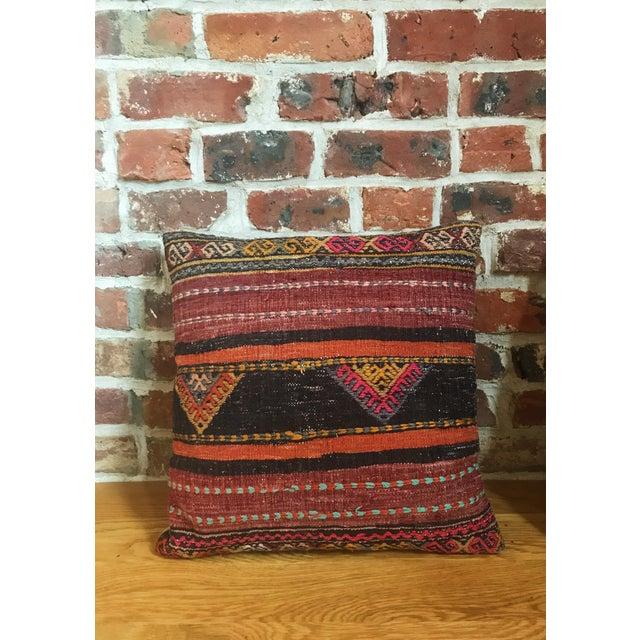 Textile Vintage Turkish Kilim Pillows - Set of 3 For Sale - Image 7 of 9