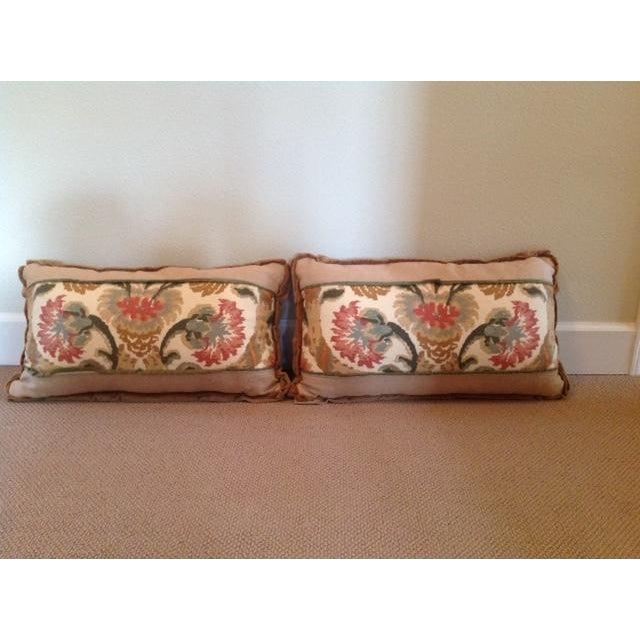 Custom Designed Lumbar Pillows - Pair - Image 2 of 8