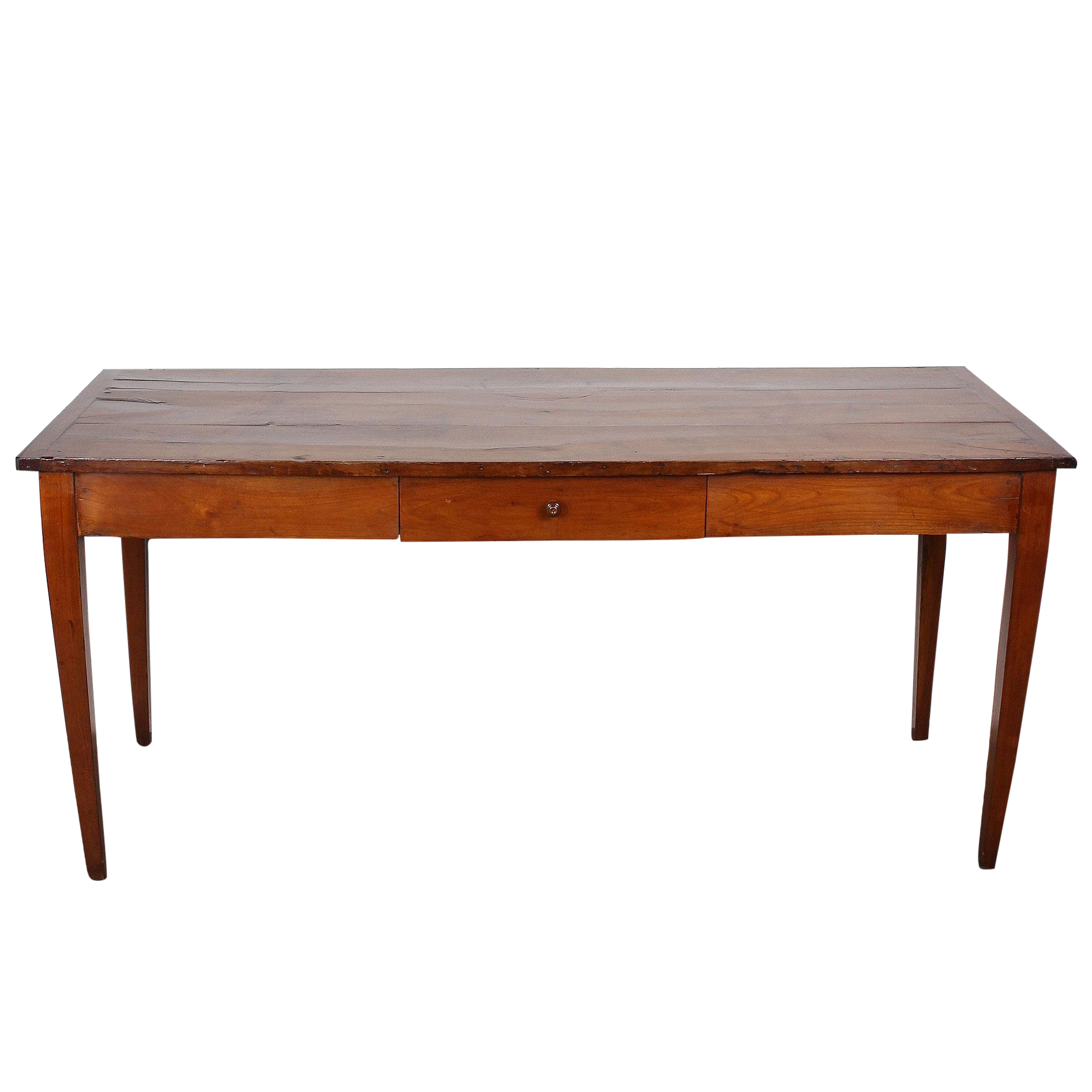 19th C. Italian Cherry Wood Farm Table