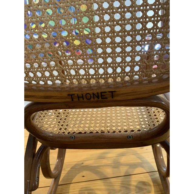 Wood 1970s Vintage Thonet Bentwood Rocking Chair For Sale - Image 7 of 12