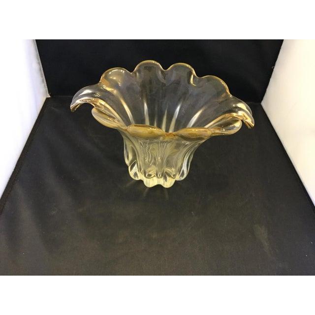 Art Deco Amber Petal Vase For Sale - Image 3 of 4