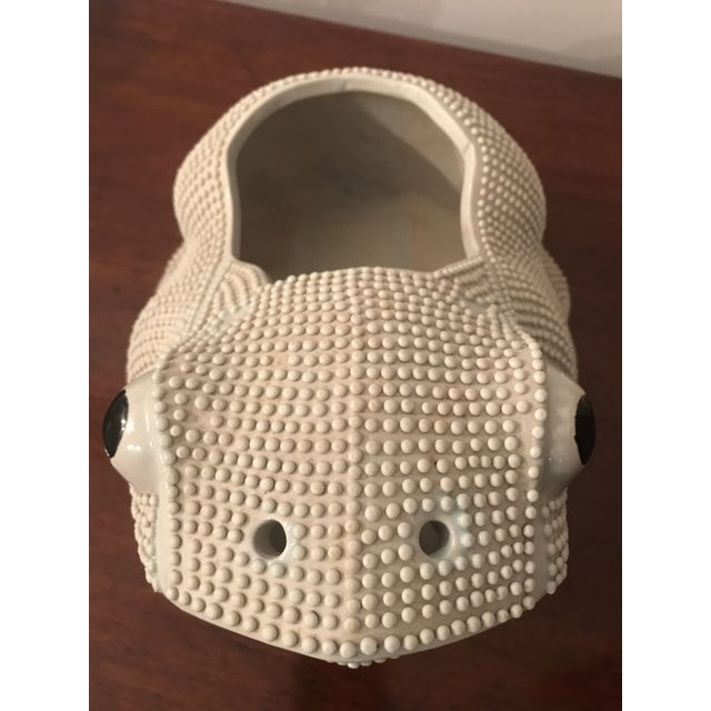 White 20th Century Chinese Export Frog Planter Cachepot For Sale - Image 8 of 10