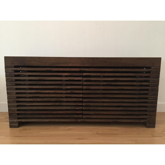 Restoration Hardware Slatted Door Sideboard - Image 2 of 7