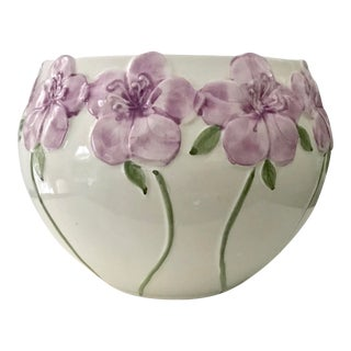 1970's MidCentury Modern Floral Cachepot For Sale
