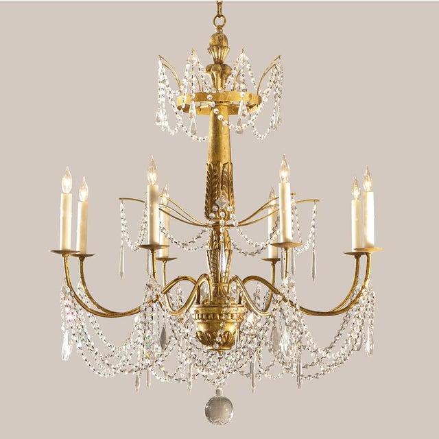 2000 - 2009 Paul Ferrante Daphne Chandelier in 22 Karat Gold For Sale - Image 5 of 7