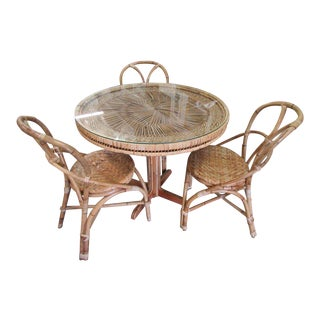 Island Style Medallion Bistro Set- 4 Pieces For Sale