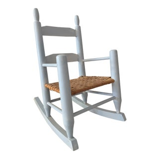 1960s Shabby Chic Child's Rocker For Sale