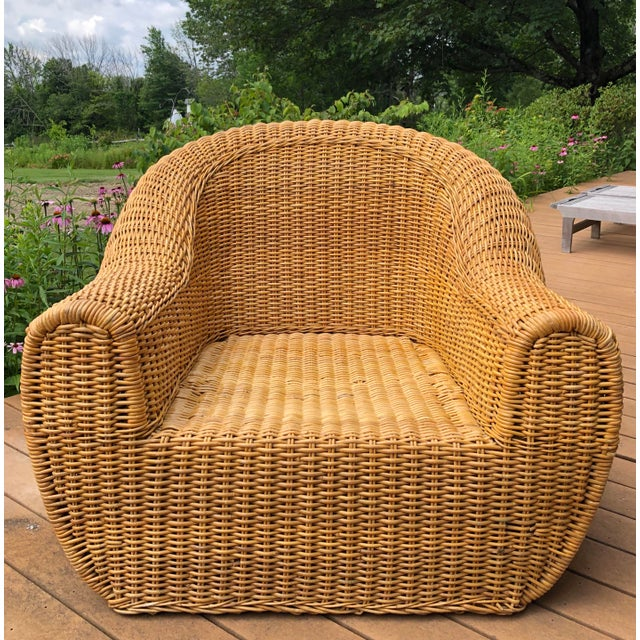 Vintage Wicker Orb Chair For Sale - Image 13 of 13