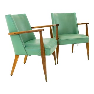 Vintage Mid Century Modern Kroehler Occasional Lounge Chairs - A Pair For Sale