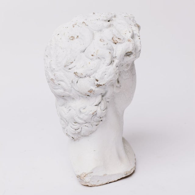 Traditional Plaster Grecian Head Sculpture For Sale - Image 3 of 5