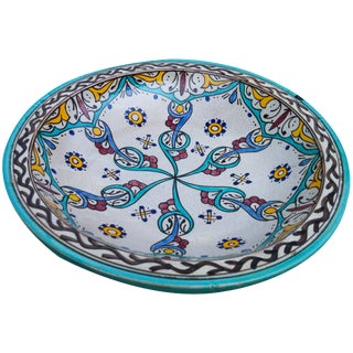Antique Ceramic Bowl W/ Andalusian Motif For Sale