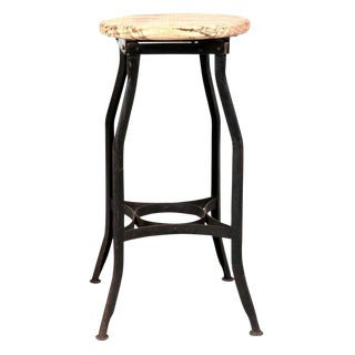 Large Classic Industrial Stool For Sale