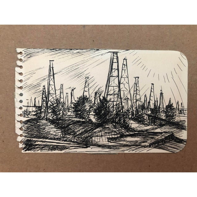 """1940s """"Oil Field, Kilgore, Texas"""" by William Palmer, 1944 For Sale - Image 5 of 5"""