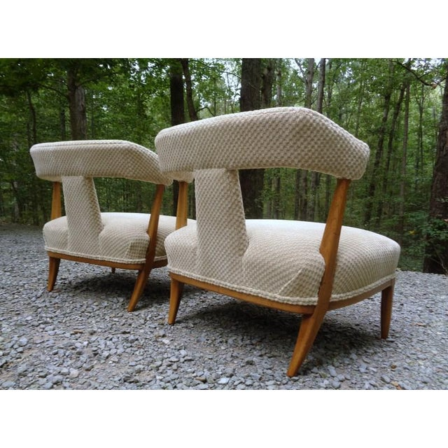Mid Century Tomlinson Sophisticate Slipper Chairs ~ a Pair For Sale - Image 11 of 13