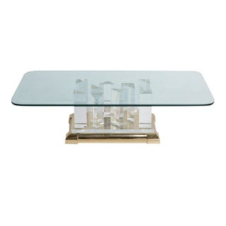 "Jeffrey Bigelow ""Towers"" Lucite Coffee Table, circa 1970"