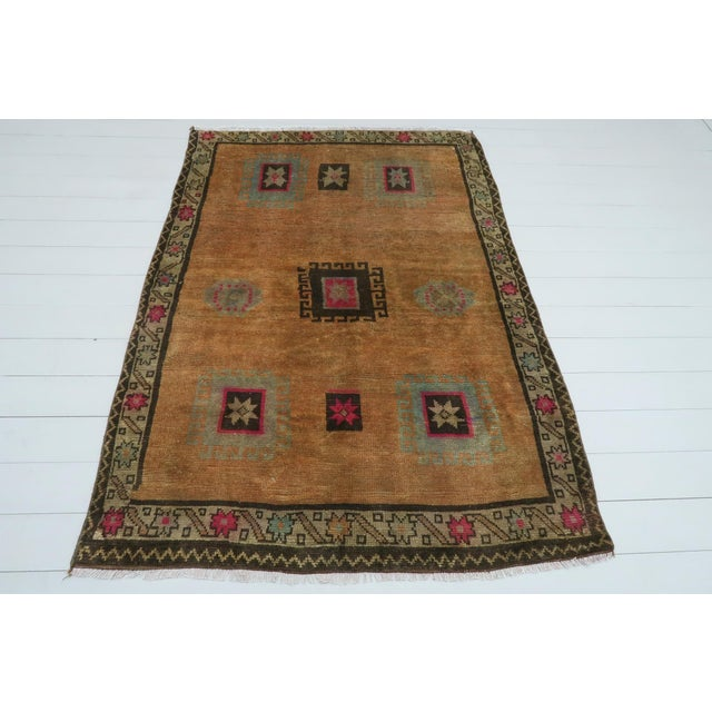 This beautiful rug from western of Turkey Denizli Nomads. Handspun Pure Wool. Kilim rug hosts an intriguing pallet of...