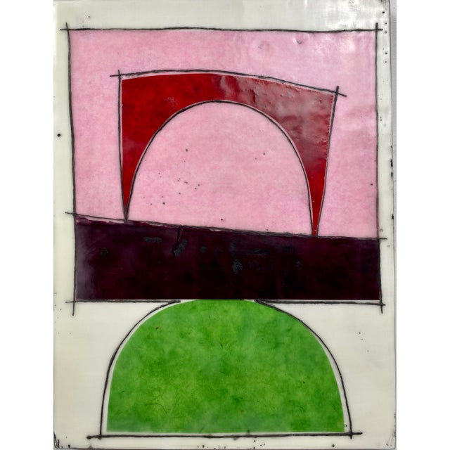 """Paper """"Better Days"""" Encaustic Collage Installation by Gina Cochran - 9 Panel Set For Sale - Image 7 of 13"""