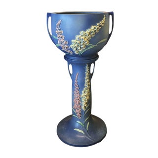 Roseville Foxglove Jardiniere and Pedestal Set