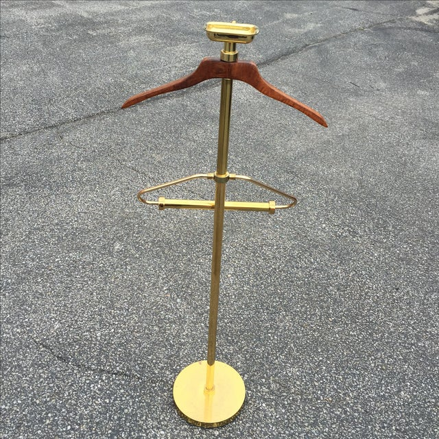 Vintage Brass & Lacquer Valet - Image 8 of 9