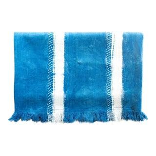 Tensira Indigo Whiskers Cotton Throw Blanket