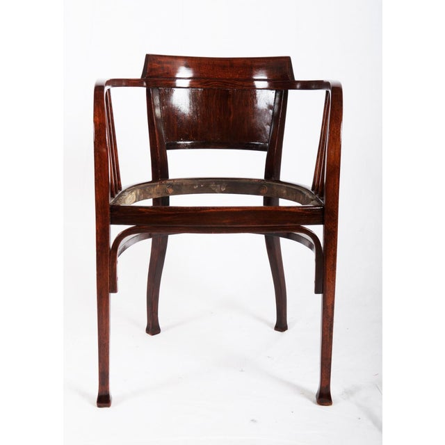 Beech Beech armchair by Otto Wagner for Thonet, 1905 For Sale - Image 7 of 7