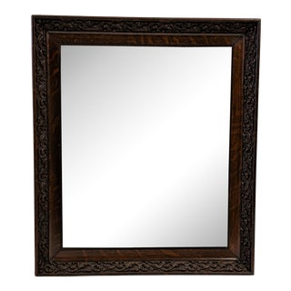 Antique Mahogany Mirror For Sale