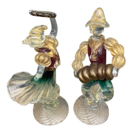Vintage Murano Glass Figurines - a Pair For Sale