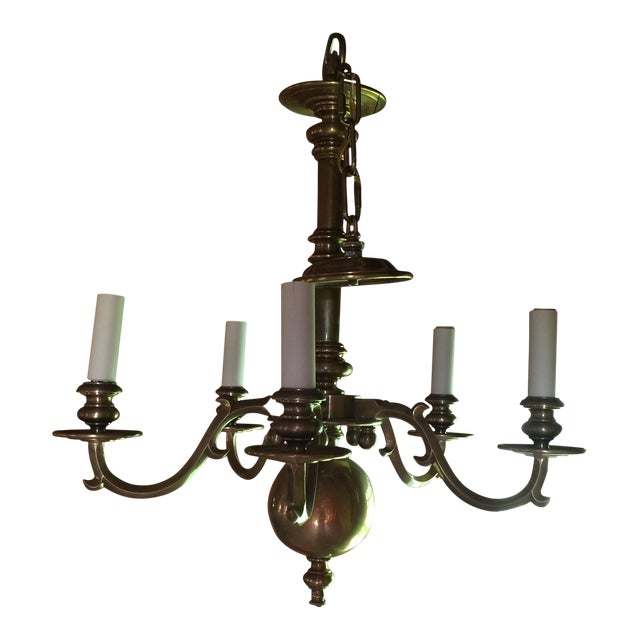Brass Chapman Chandelier For Sale