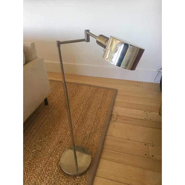 Phoenix Day Telescoping Swing Arm Floor Lamps - A Pair For Sale - Image 4 of 5