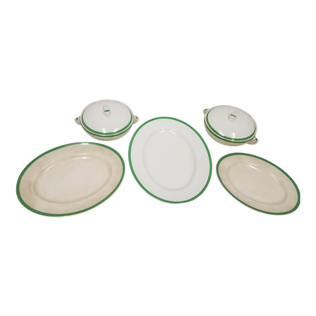 Antique Wedgwood Art Deco Serving Platters and Bowls - Found in Devon For Sale