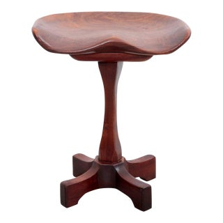 Signed Fred Camp Studio Stool in Solid Walnut Usa, 1980 For Sale