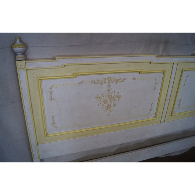 Widdicomb Hand Painted French Style King Headboard - Image 6 of 10