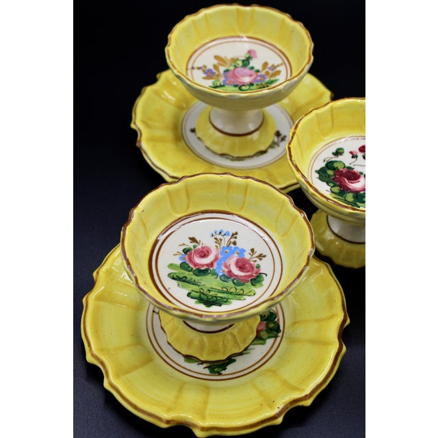 1940s Italian Dessert Plates and Compotes For Sale - Image 6 of 10