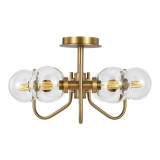 Ellen DeGeneres by Generation Lighting Verne Semi-Flush Mount, Brass For Sale