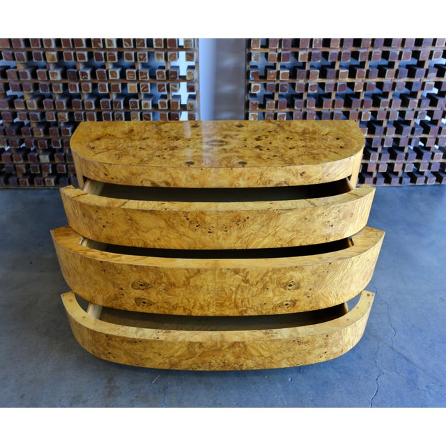 1980s Mid-Century Modern Sculptural Burl Wood Chest For Sale - Image 9 of 11