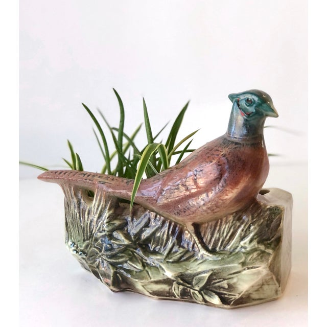 Farmhouse McCoy Pottery Pheasant Planter - Mid Century For Sale - Image 3 of 12