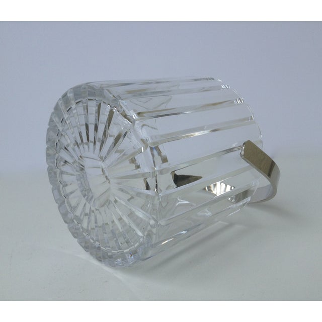 Crystal Faceted Ice Bucket With Chrome Handle - Image 7 of 11