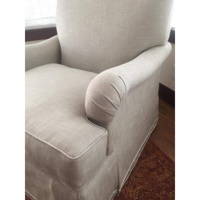 Classic Patricia Edwards Custom Chair & Ottoman Set - Image 5 of 8