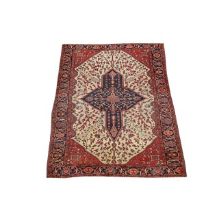 """Antique 19th Century Persian Ferahan Rug - 4'8""""x6'9"""" For Sale"""